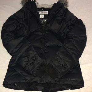 Colombia Winter Down Coat Black Size Large
